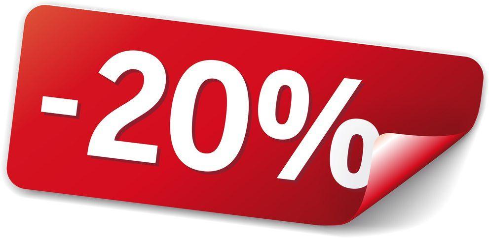 Promozione -20% su tutti i capi fino al 20 ottobre